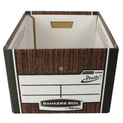 Fellowes Bankers Box Premium Presto Classic Storage Box Woodgrain 7250101