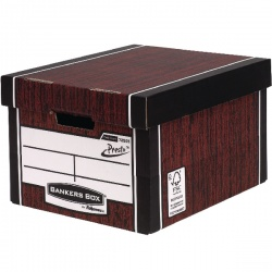 Bankers Box Woodgrain Tall Premium Storage Box (Pack of 10) 00725-FFLP