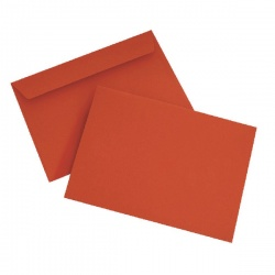 C6 Wallet Envelope Peel and Seal 120gsm Pillar Box Red (Pack of 250) BLK93012