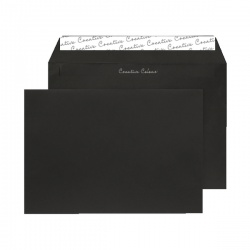 C5 Wallet Envelope Peel and Seal 120gsm Jet Black BLK93027 (Pack of 250)