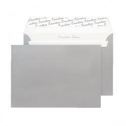 C5 Wallet Envelope Peel and Seal 130gsm Metallic Silver BLK93028 (Pack of 250)