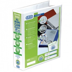 Elba White 50mm A4 4D Ring Binder (Pack of 10) 400001309