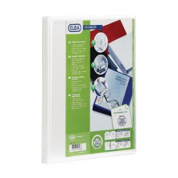 Elba Panorama A4 Presentation Binder 2D-Ring 65mm White 400008048