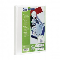 Elba Panorama A4 Presentation Binder 2D-Ring 40mm White 400008505