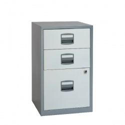 Bisley Silver and White A4 3 Drawer Home Filer BY00587