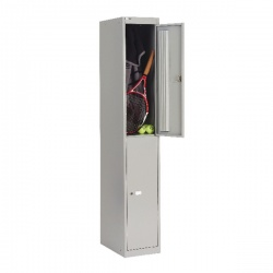 Bisley 2 Door Locker W305xD457xH1802mm Goose Grey BY09216