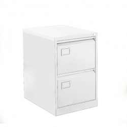 Bisley 2 Drawer Filing Cabinet Chalk White BY11584