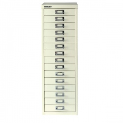 Bisley Multi-Drawer Cabinet A4 15 Drawer Chalk White BY15308
