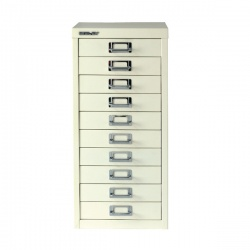 Bisley Multi-Drawer Cabinet A4 10 Drawer Chalk White BY19660