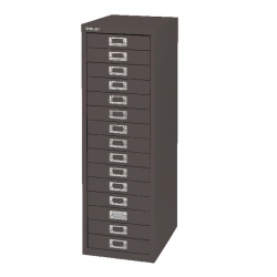 Bisley Non-Locking Multi-Drawer Cabinet 15 Drawer Black BY39950
