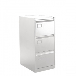 Bisley 3 Drawer Executive Filing Cabinet Chalk White BY42030