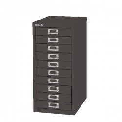 Bisley Non-Locking Multi-Drawer Cabinet 10 Drawer Black BY99639