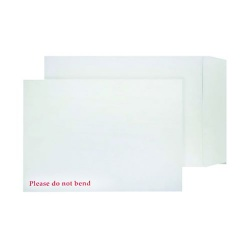 Blake Purely Packaging Board Back Pocket Peel and Seal White Envelope 120gsm C4 (324mm x 229mm) (Pack 125)