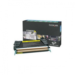 Lexmark C734A1YG Yellow Toner - Remanufactured