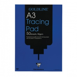 Goldline Professional A3 Tracing Pad 90gsm 50 Sheets GPT1A3