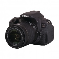 Canon Black EOS 700D Digital SLR Camera with 18-55mm Lens 8596B027AA