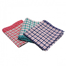 Assorted Check Design Tea Towels 430x680mm (Pack of 10) KRSRY0311