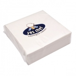 White 2-Ply Paper Napkins 400x400mm (Pack of 100) KBLRY1652
