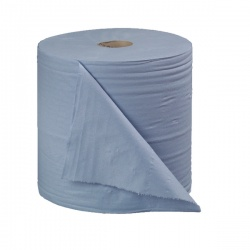 2Work Blue Bumper 2-Ply Paper Roll 270mm x 400m (Pack of 2) B2B340