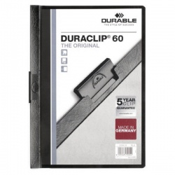 Durable Duraclip A4 File 6mm Black (Pack of 25) 2209/01