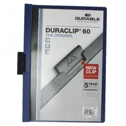 Durable Duraclip A4 File 6mm Dark Blue (Pack of 25) 2209/07