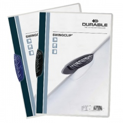Durable Swingclip Black A4 Clip Folder (Pack of 25) 2260/01