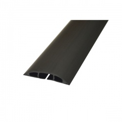 D-Line Black Light Duty Floor Cable Cover 80mm Wide 9m Long CC-1/9M