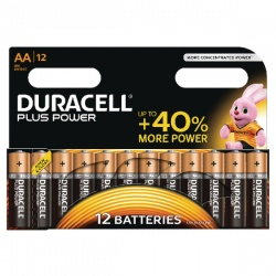 Duracell Plus Battery AA (Pack of 12) 81275378