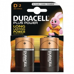 Duracell Plus Battery D (Pack of 2) 81275443