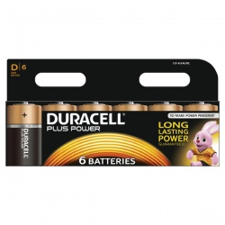 Duracell Plus Battery D (Pack of 6) 81275448