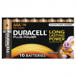 Duracell Plus Battery AAA (Pack of 16) 81275415