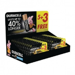 Duracell AA Plus Power Batteries 5+3 Free (Retail Pack of 24) 81446192