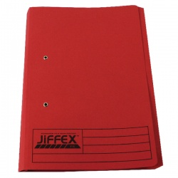 Rexel Jiffex Foolscap Pocket File Red (Pack of 25) 43318EAST