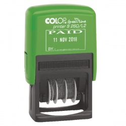 COLOP S260/L2 Green Line Dater Stamp PAID GLS260L2