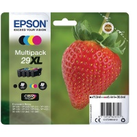 Epson 29XL Black/Cyan/Magenta/Yellow High Yield Inkjet (Pack of 4) C13T29964012 / T2996