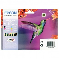 Epson Black/Cyan/Magenta/Yellow/Light Cyan/Light Magenta Photo Ink Value Pack C13T08074011 / T0807