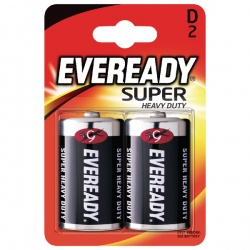 Eveready Super Heavy Duty D Batteries (Pack of 2) R20B2UP