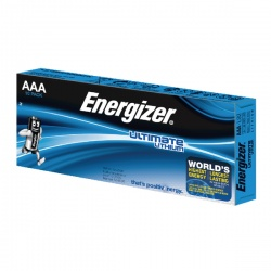Energizer AAA Ultimate Lithium Batteries (Pack of 10) 634353