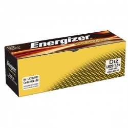 Energizer D Industrial Batteries (Pack of 12) 636108
