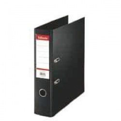 Esselte Lever Arch File Polypropylene Foolscap 75mm Black (Pack of 10) 48087