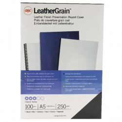 GBC LeatherGrain Binding Covers 250gsm A5 Black (Pack of 100) 4400017