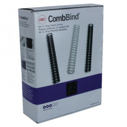 GBC Black CombBind 16mm Binding Combs (Pack of 100) 4028600