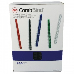 GBC Black CombBind 22mm Binding Combs (Pack of 100) 4028602U