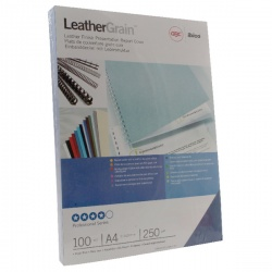 GBC LeatherGrain Binding Covers 250gsm A4 Royal Blue (Pack of 100) CE040029U