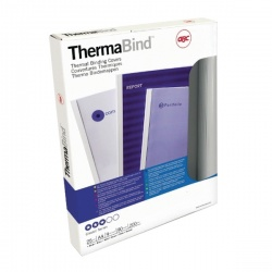 GBC LeatherGrain Thermal Binding Covers 1.5mm Royal Blue (Pack of 100) 451003U