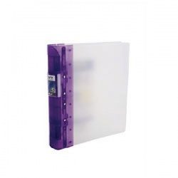 Guildhall GLX Ergogrip Frosted Ring A4 Binder Lilac (Pack of 2) 4544