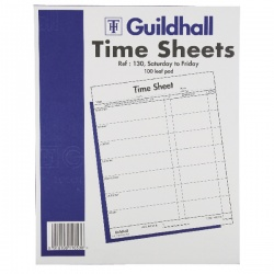 Guildhall Workmens Time Sheet 10x8 Inches Saturday-Friday (Pack of 100) 130