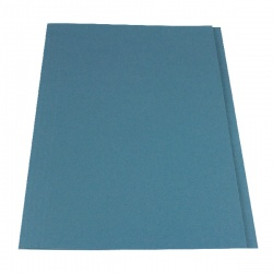 Guildhall Blue Square Cut Folder (Pack of 100) FS315-BLUE