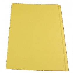 Guildhall Yellow Square Cut Folder Foolscap (Pack of 100) FS315-YELLOW