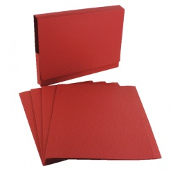 Guildhall Red Square Cut Folder (Pack of 100) FS315-RED